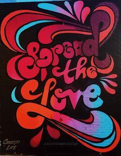 Spread Love Street Art Canvas