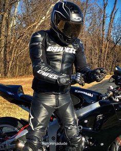 Black Leather Bikers Bike Suit, Motorcycle Suit, Motorcycle Leather, Biker Leather, Black Leather, Sexy Biker Men, Motard Sexy, Motorbike Leathers, Mens Leather Pants