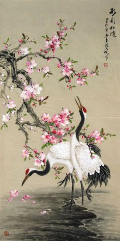 www.inkdancechinesepaintings.com crane picture 2581003.jpg