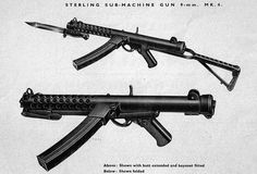 "A picture from the Sterling Engineering Company, Dagenham, handbook for the ""Sub-Machine Gun, 9mm, Mk 4 (SMG 9mm L2A3)""."