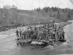 "Photo 1899 Michigan ""Muskegon River - Lumber Industry"""