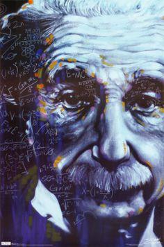 Einstein - Artistic Formulas Poster at AllPosters.com