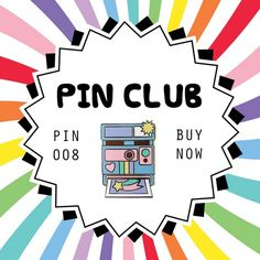 This month's pin is now available to buy without subscribing but we only have a very small amount available. Each pin order this month receives an . Unicorn Club, Cool Inventions, Japanese Artists, Pin Badges, Catalog, Stuff To Buy, Image, Brooches, Clothing