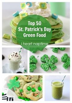 Top 50 St. Patricks Day green food at i heart naptime
