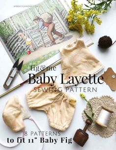 Doll Clothing Baby Layette Waldorf Doll Clothes Sewing