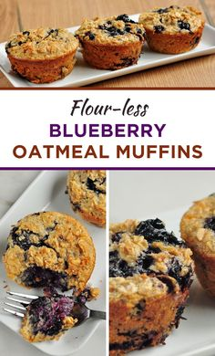 Flour-less Blueberry Oatmeal Muffins