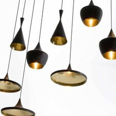 Buy Tom Dixon Beat Fat Black Pendant Light online with Houseology Price Promise. Full Tom Dixon collection with UK & International shipping. Interior Dorado, Gold Interior, Large Pendant Lighting, Black Pendant Light, Pendant Lights, Gold Pendant, Black Pendants, Pendant Lamps, Tom Dixon Lampe