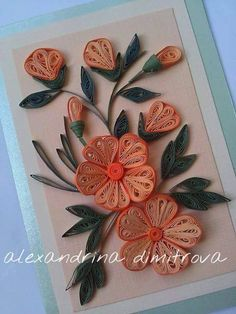 Quilling Flowers Tutorial, Paper Quilling Designs, Quilling Ideas, Quilling Patterns, Quilling Cards, Toilet Roll Art, Paper Art, Paper Crafts, Paper Cutting