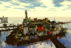 West Cape Fishing Village is located in the mysterious area Golden Hills Valley