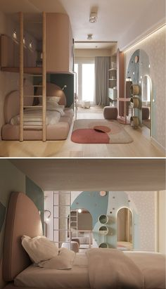 Modern Kids Bedroom, Kids Bedroom Designs, Room Design Bedroom, Room Ideas Bedroom, Home Room Design, Kids Room Design, Small Room Bedroom, Home Interior Design, Bedroom Decor