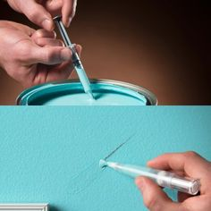 Paint Retouching Pen  - this is genius! Gadgets And Gizmos, Cool Gadgets, Technology Gadgets, Painting Tips, Painting Art, Housekeeping, Home Hacks, Home Projects, Truc Cool