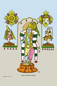 Bapu Painting Lord Ranganatha Awamy