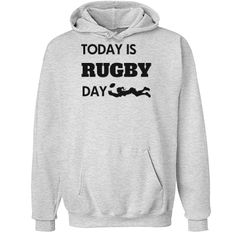 Today is rugby day | Custom best selling hoodie for the rugby family.
