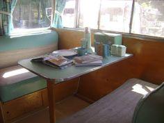 Dinette in Vintage camper