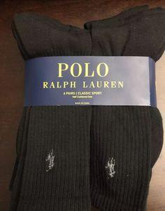 0fdbb9b21f83 Polo Ralph Lauren 6 Pair Pack Classic Sport Cushioned Sole High Top Socks   fashion