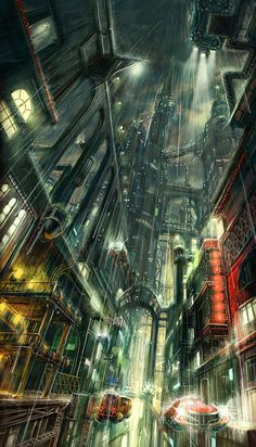 Cyberpunk Atmosphere, Futuristic City, The new tomorrow