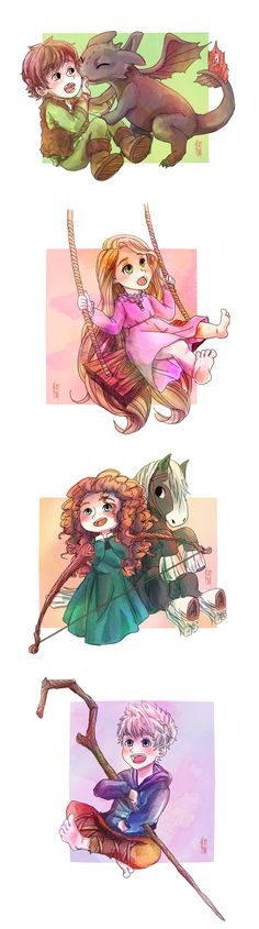 The Miniature Big Four by fishykays.deviantart.com on @deviantART