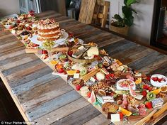 It's the wedding spread that will make sure nobody goes hungry. Gold Coast businesswoman Megan Fernandez started Your Platter Matters that makes share boards for weddings that are metres long