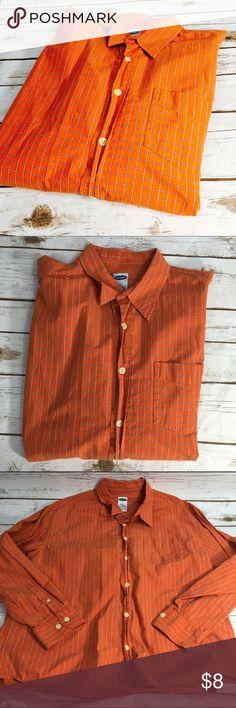 Old Navy Men's Button Down Old Navy  Men's  Button Down  Orange Size L  Front Pocket  100% Cotton  EUC Old Navy Shirts Casual Button Down Shirts