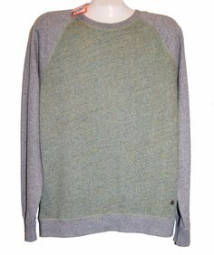 Hugo Boss Green Gray Long Sleeve Men's Cotton Sweater Size XL