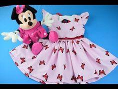 Como hacer un Vestidos Para Niñas 6 -18 meses - YouTube Baby Frock Pattern, Frock Patterns, Baby Dress Patterns, Sewing Patterns, Barbie Dolls Diy, Barbie Dress, Diy Doll, Little Girl Dresses, Little Girls