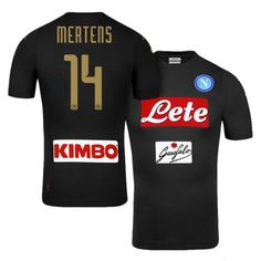 Napoli Third 16-17 Season Black #14 Mertens Soccer Jersey - Click Image to Close