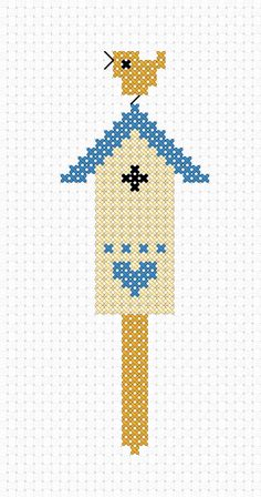 free Cross Stitch Pattern - 'Bird House'