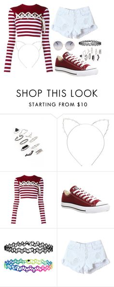"""""""Summer Again?"""" by cece-15 ❤ liked on Polyvore featuring Topshop, Cara, House of Holland, Converse and Accessorize"""
