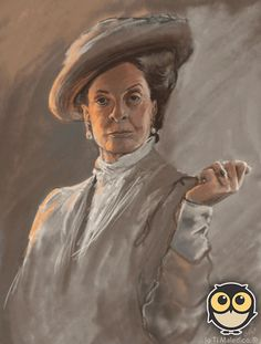 The Dowager Countess stunningpicture: Portrait I drew of the lovely Maggie Smith. I am getting this framed and hung . Anim Gif, Animiertes Gif, Animated Gif, Gifs, Animation, Beau Gif, Dowager Countess, Cultura Pop, Downton Abbey