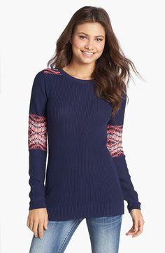 Rubbish® Fair Isle Patch Sweater (Juniors) | Nordstrom