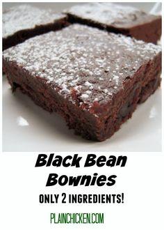 Black Bean Brownies - only 2 ingredients!