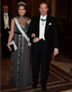Princess Madeleine & Christopher O'Neill  at the King's Dinner for 2015 Nobel Prize Winners