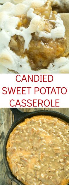 An amazing candied sweet potato casserole recipe that is great for the holidays. We love it with our special twist!