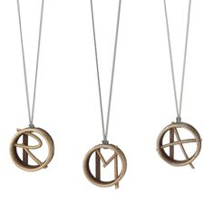 This 3-D printed design offers an unexpected take on the signet initial necklace.