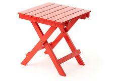 Outdoor Side Table, Red