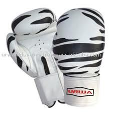 zebra printed kickboxing gloves LOVE