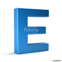 """E Letter Icon. 3D Render Illustration"" Stock photo and royalty-free images on Fotolia.com - Pic 134404507"