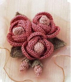 """Милые сердцу штучки: Вязание крючком : """"Идеи вязаных цветов"""""""