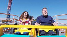 Selena Gomez and James Corden ride a rollercoaster for Carpool Karaoke. The best!