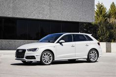 View 2016 Audi TDI Sportback Photos from Car and Driver. Find high-resolution car images in our photo-gallery archive. Vw Golf Tdi, Jaguar Xe, Volkswagen Group, Audi A3 Sportback, Toyota Prius, Performance Cars, Audi A6, Car And Driver, Future Car