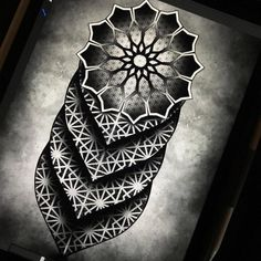 an awesome example from jeffzalesak of what can be done with the new geometric brushes from coryferguson! We released the Clip Dotwork Tattoo Mandala, Geometric Mandala Tattoo, Geometric Tattoo Design, Mandala Tattoo Design, Tattoo Motive, Leg Tattoos, Body Art Tattoos, Sleeve Tattoos, Tattoos For Guys