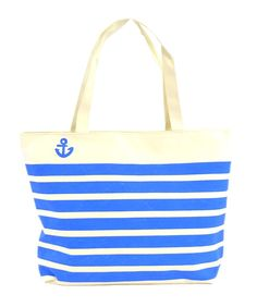LSW Anchor Stripes Canvas Shoulder Tote Bag * New and awesome product awaits you, Read it now  : Shoulder Handbags