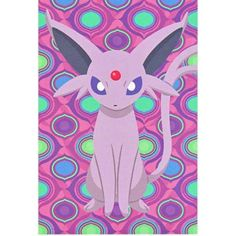Pokemon Center 2012 Eevee Collection Espeon Authentic Postcard NOT SOLD IN STORES