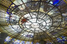 Dazzling stained #glass ceiling in the Erawan Museum Bangkok