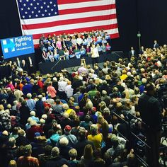 #HillaryClinton at the #FiveFlagsCenter in #Dubuque #Iowa this afternoon!