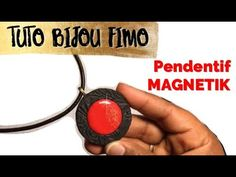 #72 - TUTO BIJOU FIMO : PENDENTIF MAGNETIK - YouTube
