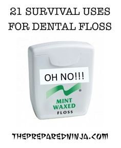 Dental floss is an integral part of daily oral hygiene but did you know that dental floss was also a key component to a survival kit?