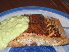Salmon With Creamy Avocado Sauce Recipe - Food.com