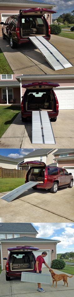 Access Ramps: 7 Wheelchair Scooter Folding Aluminum Portable Carrier Ramp: 6 8 Van Handicap BUY IT NOW ONLY: $175.99