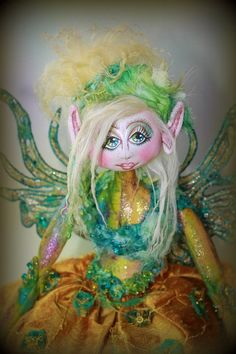 Molly cloth art doll by cooperdolls on Etsy, $400.00